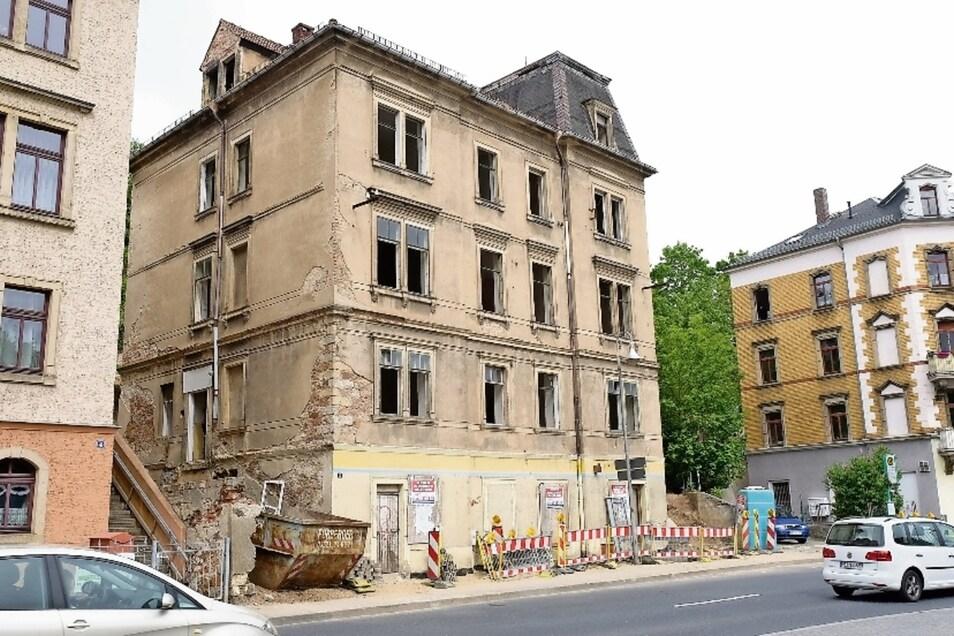 Das markante Denkmal Meisastraße 3 wird einmal neun Eigentumswohnungen aufweisen.