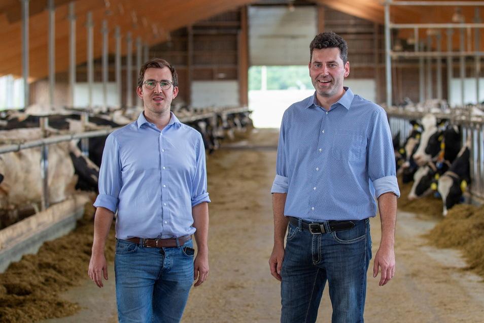 Philipp Käppeler und Jan Köhler führen als Vorstände die Geschicke der Luchbergmilch in Luchau.