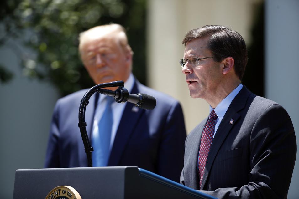 Mark Esper (r), aktueller Verteidigungsminister der USA