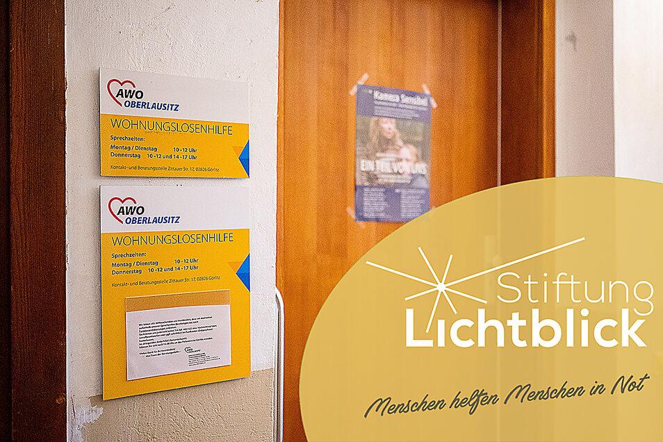 Hinter dieser Tür gibt es Rat und Hilfe bei der AWO-Wohnungslosenhilfe. Die Beratungsstelle befindet sich auf der Zittauer Straße 17 in Görlitz.