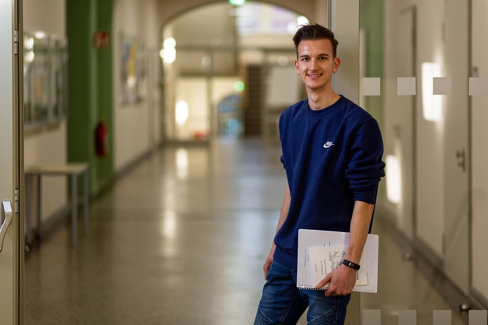 Preisarbeit: Philip Rädisch vom Weißeritzgymnasium wurde für eine Projektarbeit ausgezeichnet.