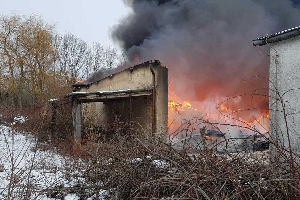 Eine Rauchsäule stieg über Wilsdruff auf.