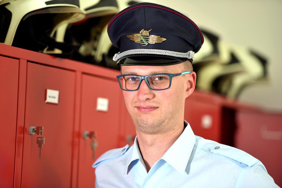 Daniel Wobser leitet seit einigen Jahren die Ortsfeuerwehr Eichgraben.