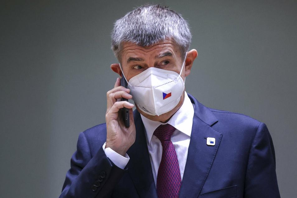 Tschechiens Ministerpräsident Andrej Babis. Erstmals gilt in Tschechien eine nächtliche Ausgangssperre.
