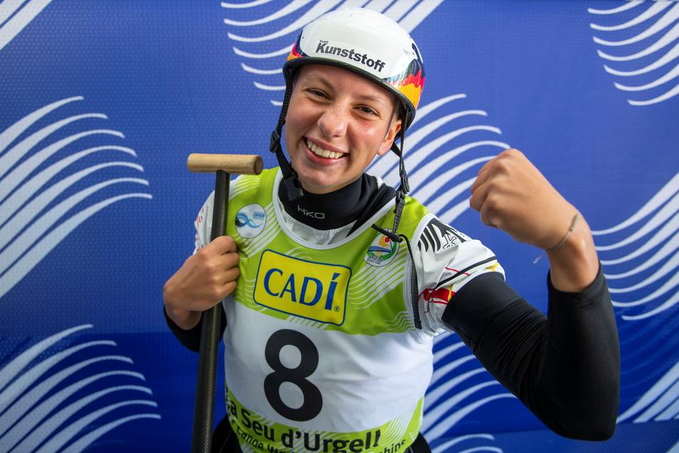 Ihr größter Triumph: 2019 krönte sich Slalom-Kanutin Andrea Herzog zur zweitjüngsten Weltmeisterin aller Zeiten.