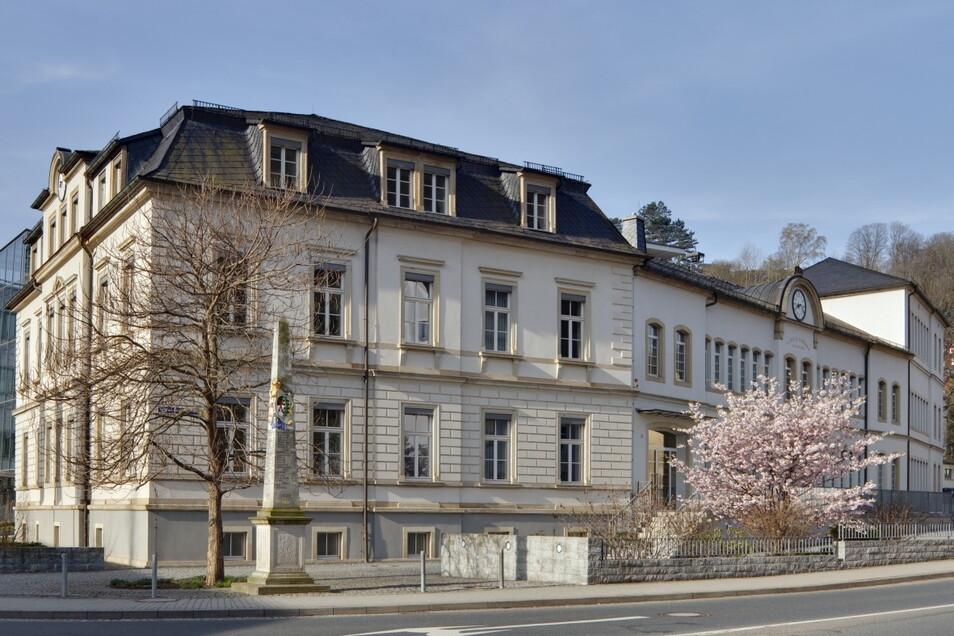 Das Stammhaus der Familie Lange in Glashütte. Heute Sitz der Firmenleitung.