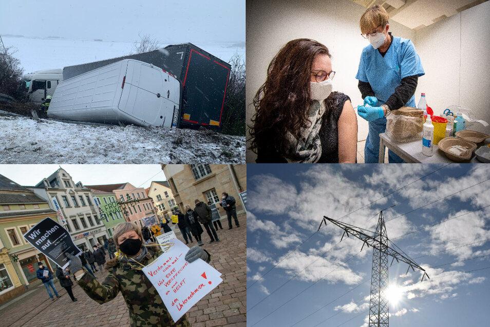 Wochenrückblick: Winterchaos, Impfungen, Händler-Protest, Stromausfall