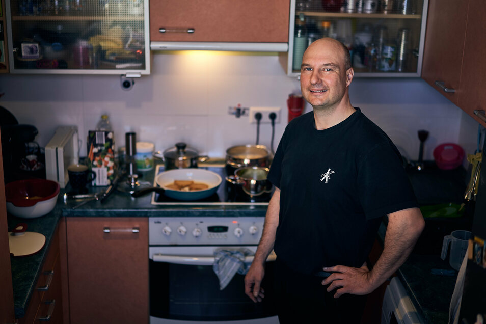 Zurzeit kocht Matthias Urban jeden Tag Mittagessen - wirklich Spaß hat er dabei nicht.