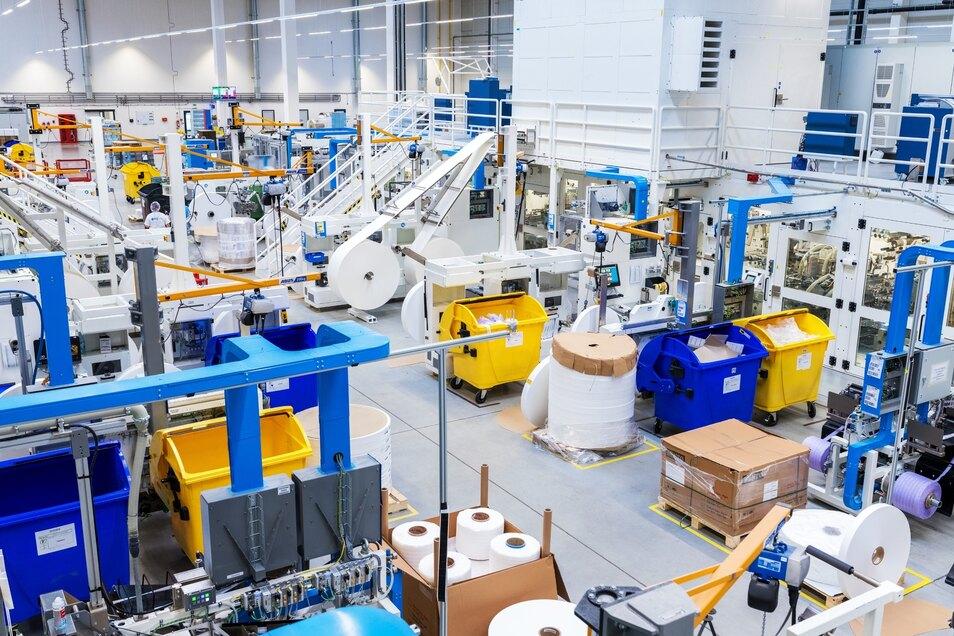 Blick in die neue Produktionshalle.