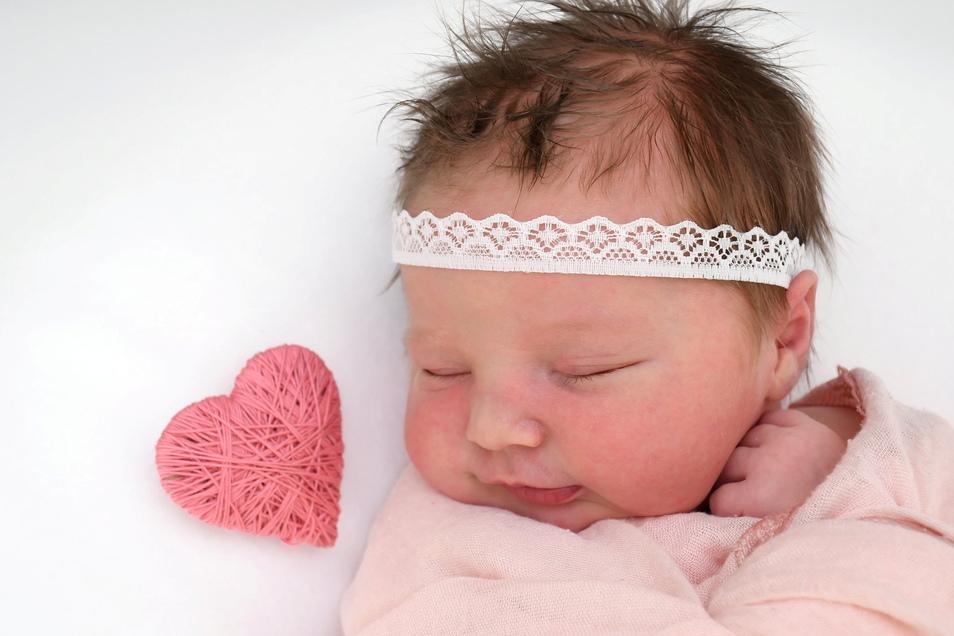 Eleanor, geboren am 8. März, Geburtsort: Freital, Gewicht: 4.010 Gramm, Größe: 54 Zentimeter, Eltern: Lisa und Sven Kießlich, Wohnort: Freital