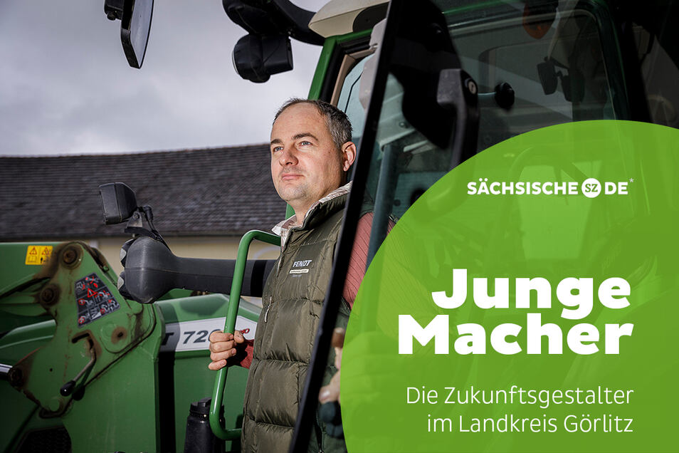 Christoph Zachmann übernahm in diesem Sommer den elterlichen Landwirtschaftsbetrieb in Markersdorf.