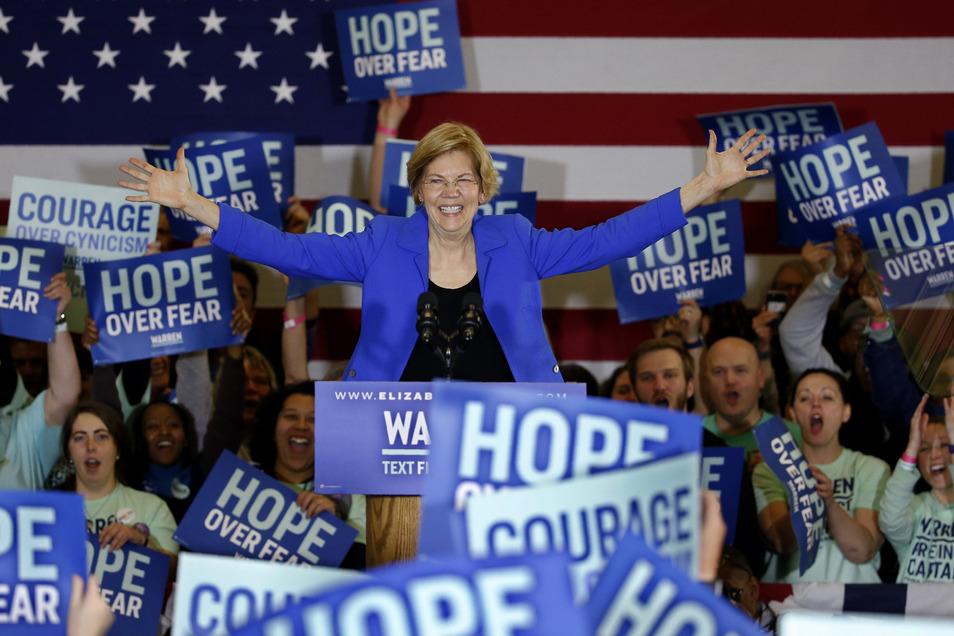 Elizabeth Warren, demokratische Bewerberin um die Präsidentschaftskandidatur.