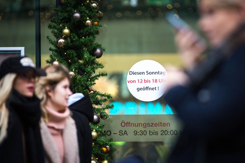 Von 12 bis 18 Uhr waren die Geschäfte in der Dresdner Innenstadt und in den Einkaufszentren am Stadtrand an diesem Sonntag geöffnet.