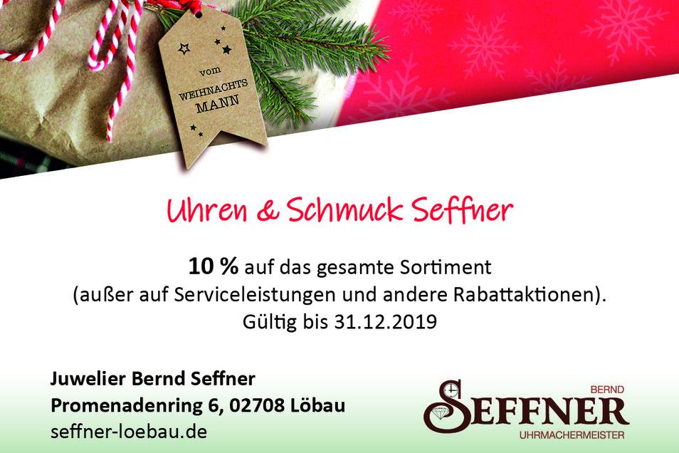 Juwelier Bernd Seffner, Promenadenring 6, 02708 Löbau, seffner-loebau.de
