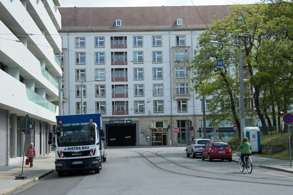 Über diese Straße führt ab Juni die Zufahrt zur Altmarktgalerie an der Wallstraße.