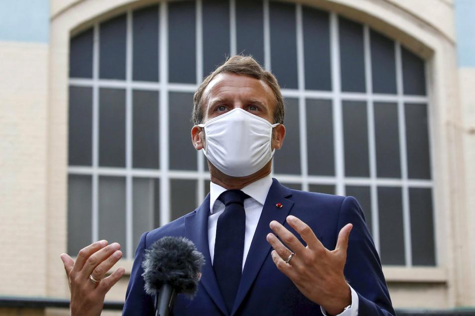 Emmanuel Macron, Präsident von Frankreich, warnte vor der Wiederholung alter Fehler.