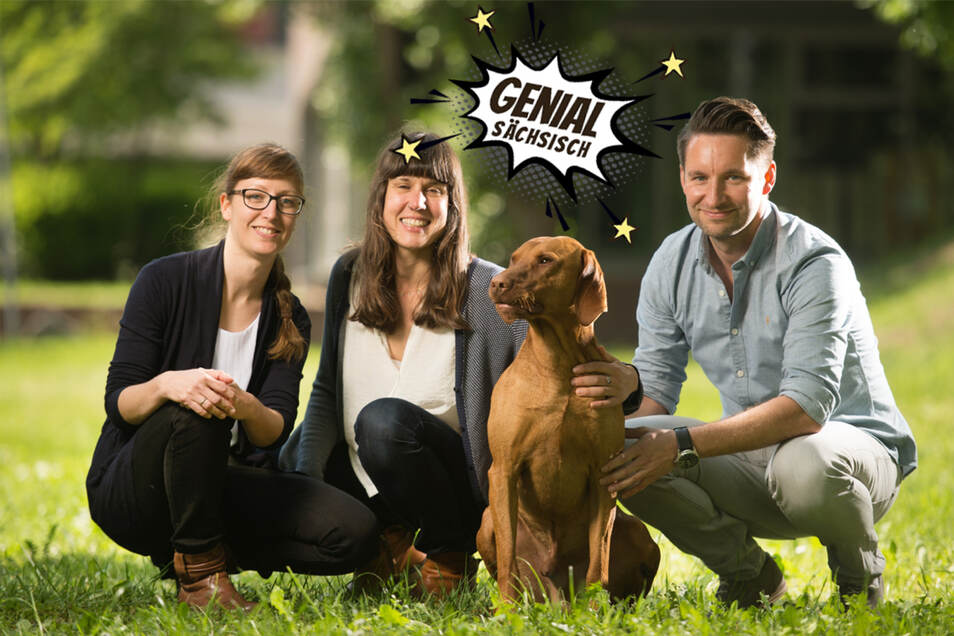 Das Team von Purapep: die Lebensmittelchemikerinnen Diana Hagemann (l.), Julia Degen und der Wirtschaftsingenieur Geralf Zimmermann.