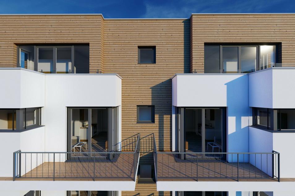 Die meisten Wohnungen sollen mit Balkonen ausgestattet werden.