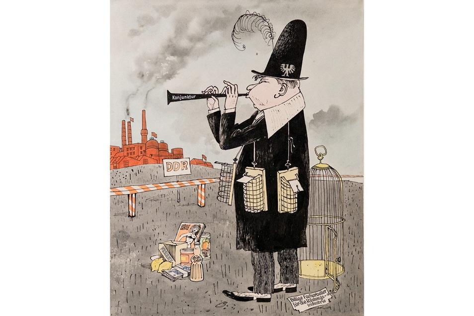 "Karikatur ""Rattenfänger"" von Peter Dittrich: Kritik am Kapitalismus."