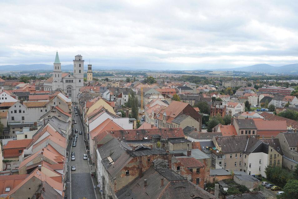 Das Gebiet unterhalb der Weberkirche - die westliche Innenstadt - soll neu gestaltet werden.
