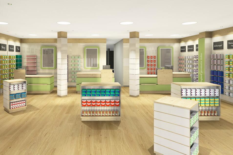 So sollen die Räume der Grund-Apotheke ab Mai aussehen. (Bildausschnitt)