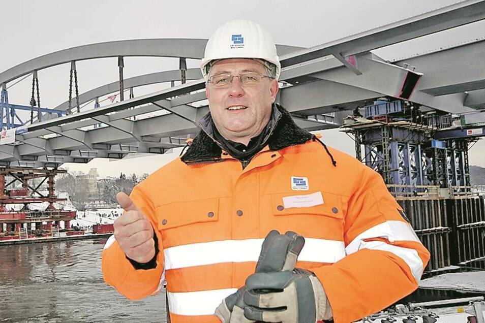 Der Verkehr rollt darüber, abbezahlt ist die Waldschlößchenbrücke aber noch nicht, sagt Henri Lossau, der Technische Leiter des Bauprojekts. Foto: MKL-News (Archiv)