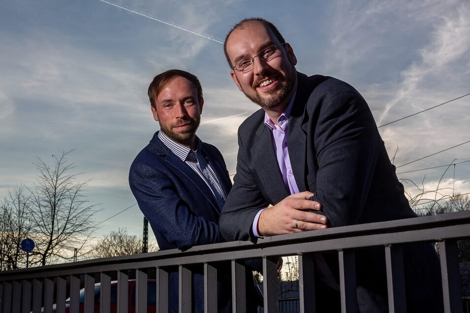 Peter Pfitzenreiter (l.) und Martin Rülke führen die Freitaler CDU in den Wahlkampf.