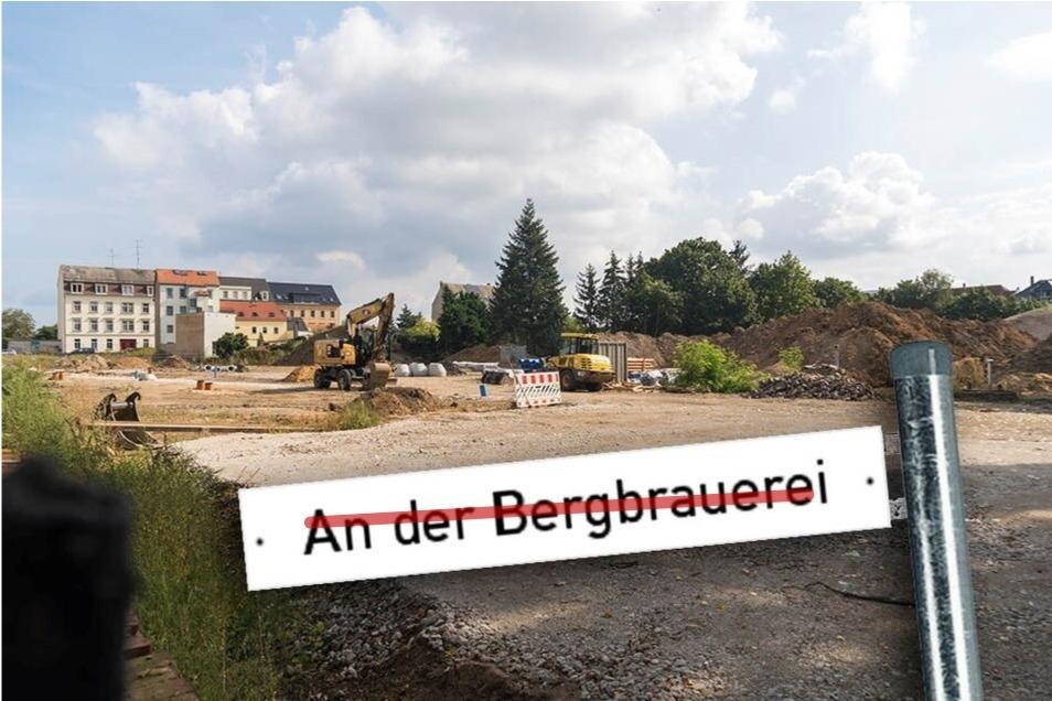 """Die künftige Anliegerstraße auf dem Gelände der früheren Brauerei in Altriesa wird nicht """"An der Bergbrauerei"""" heißen, sondern """"Brauhausweg""""."""