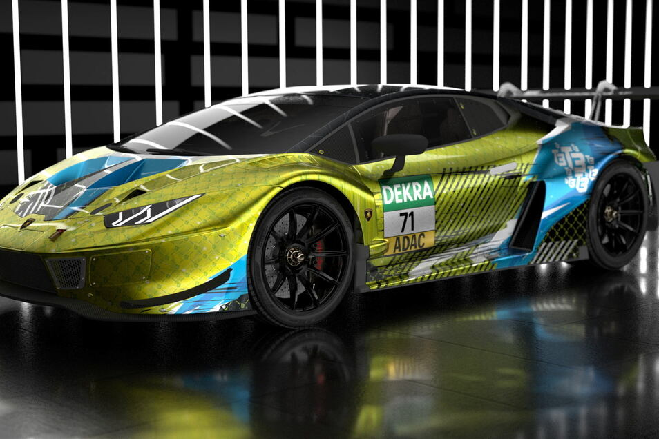 So in etwa soll er aussehen, der Lamborghini Huracan Evo GT3, den das Dresdner Team am Wochenende in der DTM einsetzen wird. Nur die Lackierung wird wohl etwas anders aussehen.