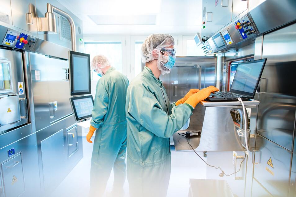 Strahlenschutz beachten: Rotop stellt Arzneimittel her, die später im Körper per Gamma-Kamera aufgespürt werden.