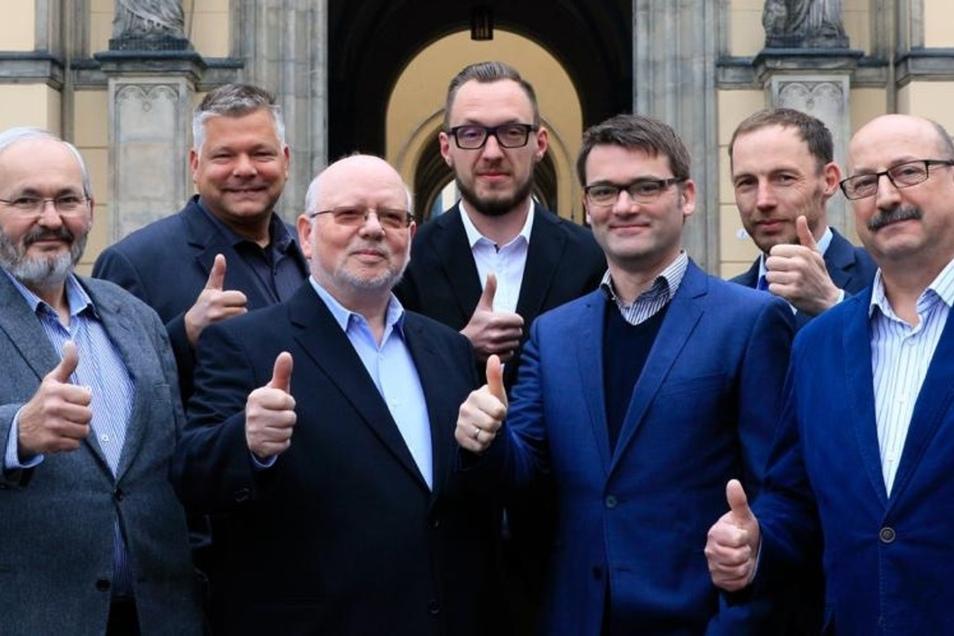 Die CDU-KandidatenThomas Zabel, Oliver Johne, Dietrich Glaubitz, Gerd Witke,  Gerhard Richtert, Martin Thies und Klaus Reepen.