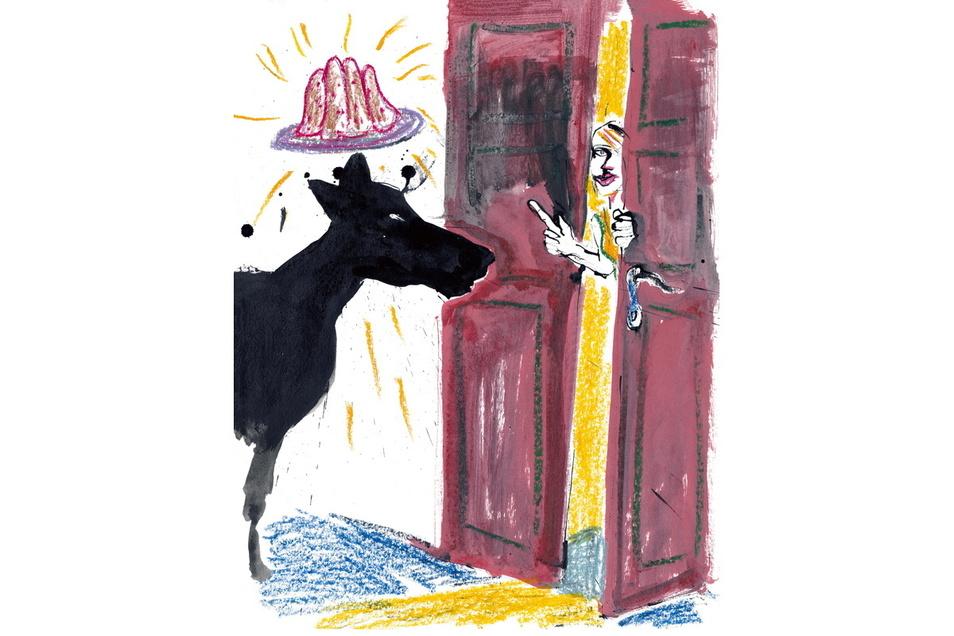 Weiß der Wolf, dass er klingeln muss, wenn er bei der kleinen Mateja Ellen Ruth Sarah Mutesius Kuchen schnabulieren will?