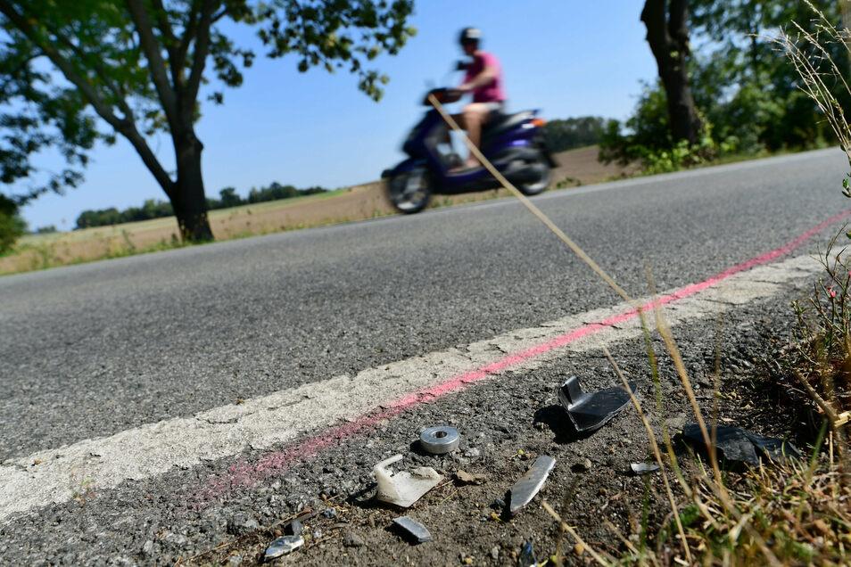 An dieser Stelle an der Hauptstraße in Neueibau kam am 5. September ein 55-jähriger Motorradfahrer ums Leben. Die Unfall-Verursacherin war 78 Jahre alt.