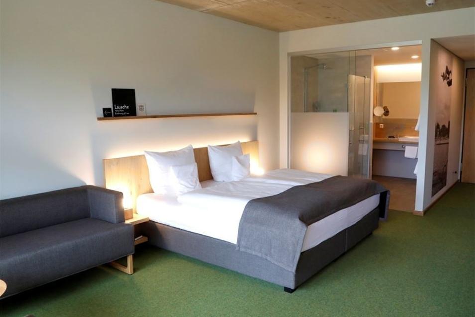 Ein Blick in eines der Doppelzimmer des Vier-Sterne-Hotels.