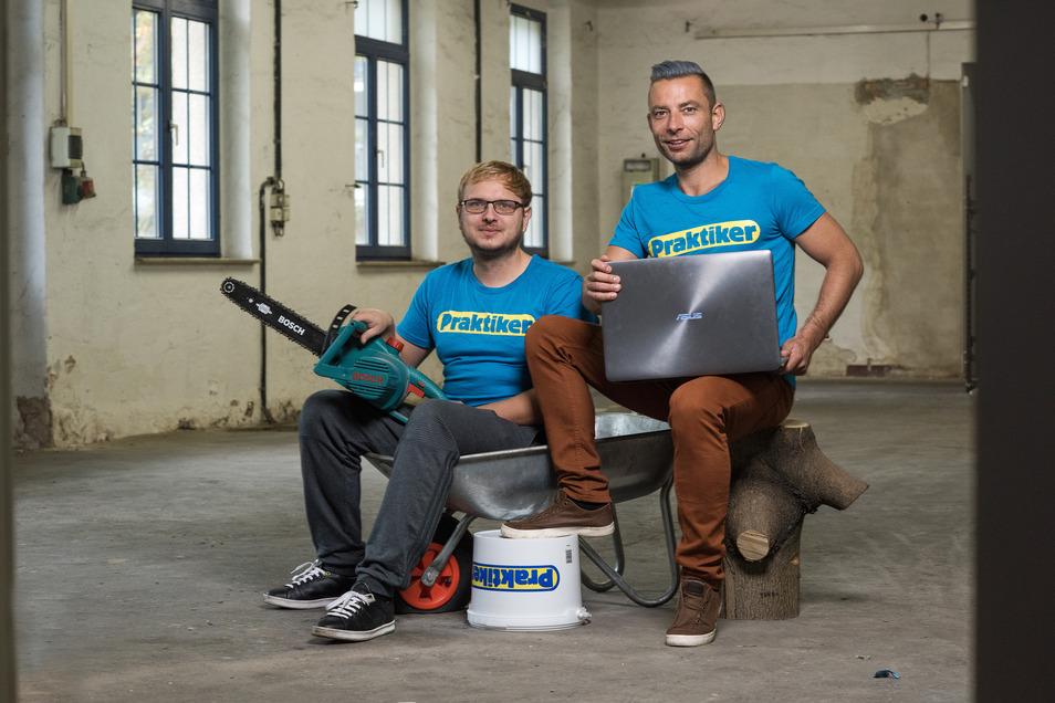 Die Online-Unternehmer Dirk Oschmann und Christoph Kilz machten sich vor einigen Jahren selbstständig.