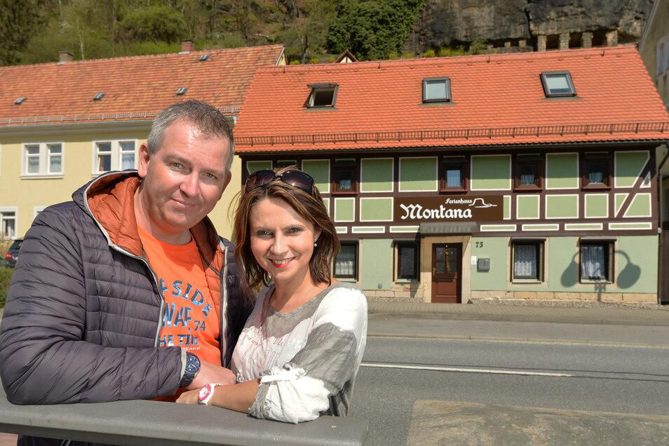 Dirk und Magda Prange sind mit ihrem Ferienhaus Montana in Bad Schandau schon zum dritten Mal für den Wettbewerb zum Gästeliebling nominiert.