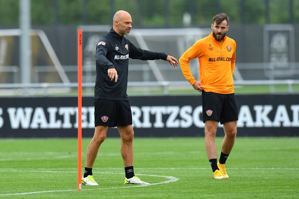 Trainer Alexander Schmidt ist von Neuzugang Morris Schröter überzeugt. Er sei genau der Typ, der Dynamos Spielstil verkörpert.