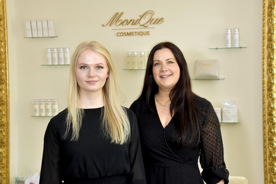 Kosmetikerin Monique Pfenniger (r.) freut sich, dass sie auch künftig auf ihren Schützling zählen kann.