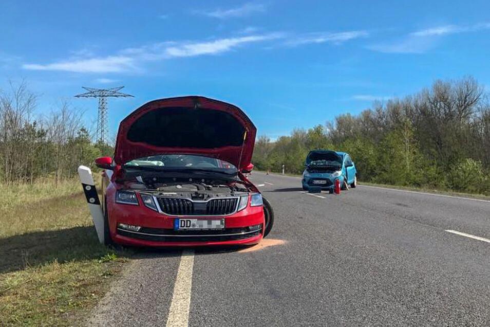 Ein aktueller Unfall: Gegen 8.45 Uhr prallten am Montag auf der B97 unweit des Abzweigs Burghammer ein Ford Ka und ein Skoda Octavia zusammen. Beide Fahrer wurden ins Klinikum eingeliefert.