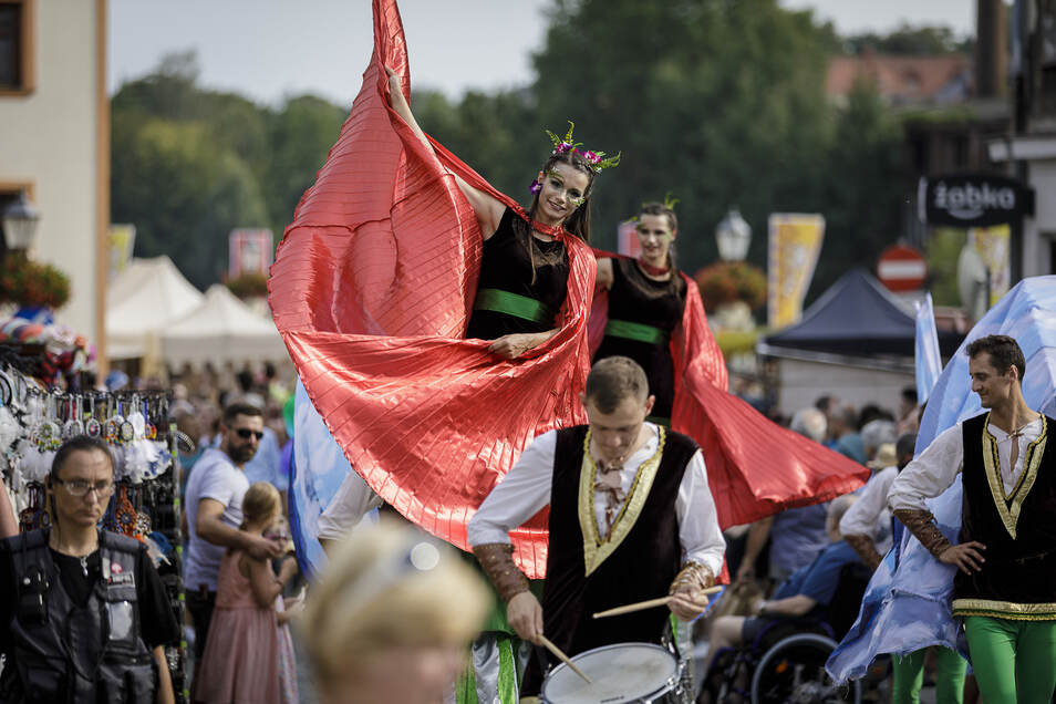 Auf der anderen Neißeseite feierte Zgorzelec wie immer zeitgleich das Jakuby-Fest.