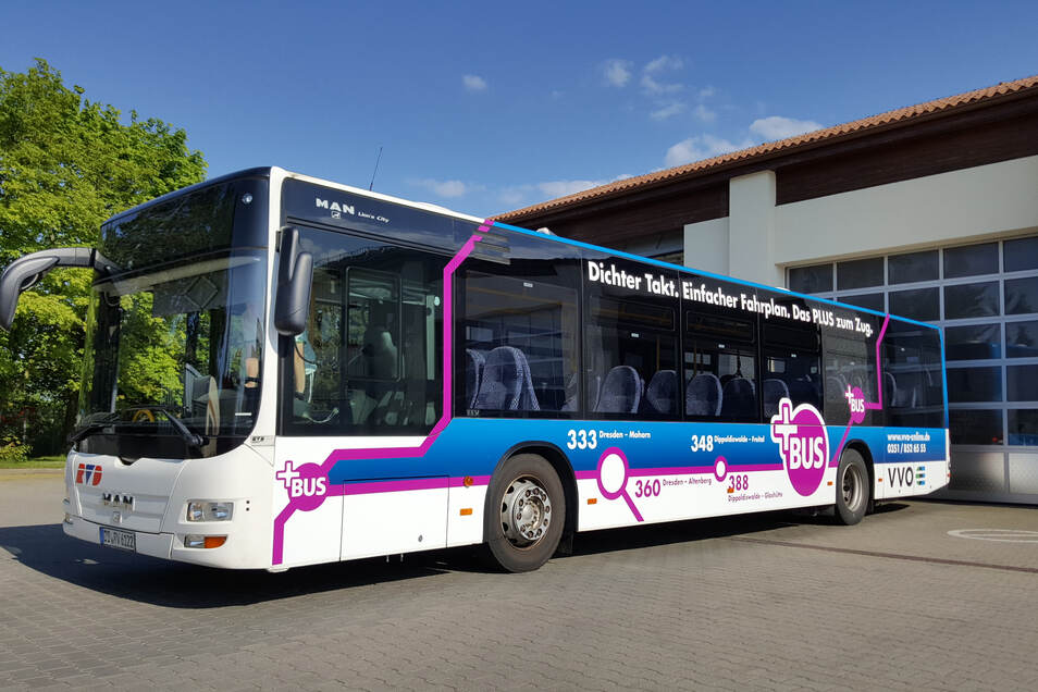 Sieht schick aus und sorgt für bessere Querverbindungen in Sachsen: Beim Streit um den Plusbus gibt es konstruktive Gespräche zwischen dem Wirtschaftsministerium und den Verkehrsverbänden.