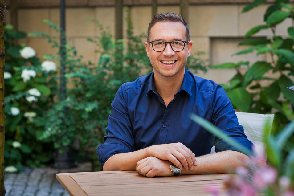 Blickt optimistisch in die Zukunft: Hörakustiker Adrian Rößger ist bereits seit rund fünf Jahren auf der Gerbergasse ansässig und mit dem Standort zufrieden.