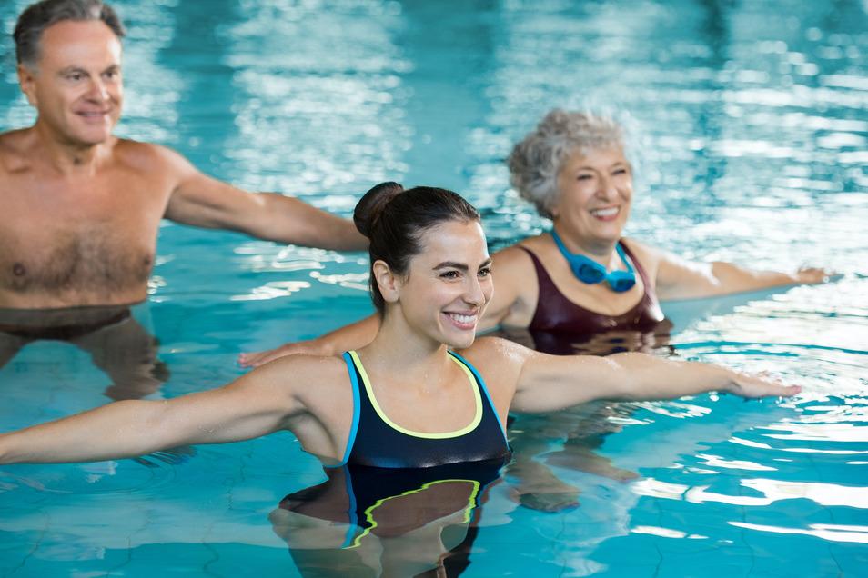 Ob Aqua-Kurse für jede Altersgruppe, Aquacycling oder Babyschwimmen die hochmodernen Anlagen im PPS Medical Fitness auf der Wiener Straße mitten in Dresden machen Wasser-Fitness zum Erlebnis.