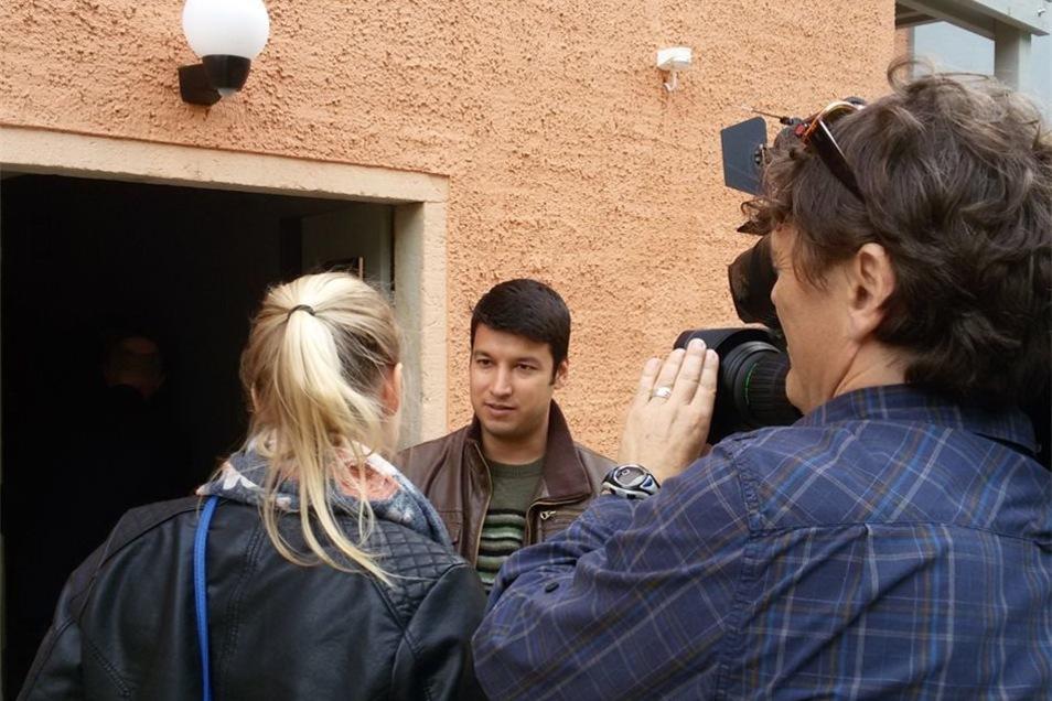 Ein Famiklienvater aus Afghanistan gehört zu den neuen Bewohnern in der Meißner Rauhentalstraße.