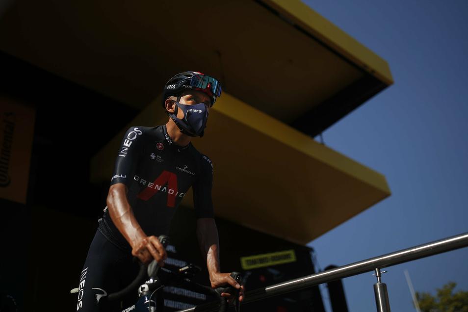 Vorjahressieger Egan Bernal verlor am Sonntag über sechs Minuten auf die Spitze des Gesamtklassements der Tour de France. Damit muss der Kolumbianer die Titelverteidigung aufgeben.