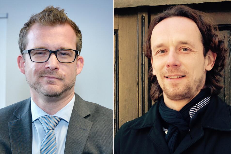 Zwei Männer, zwei unterschiedliche Meinungen: Investor Frank Wießner (rechts) und Baubürgermeister Raoul Schmidt-Lamontain.