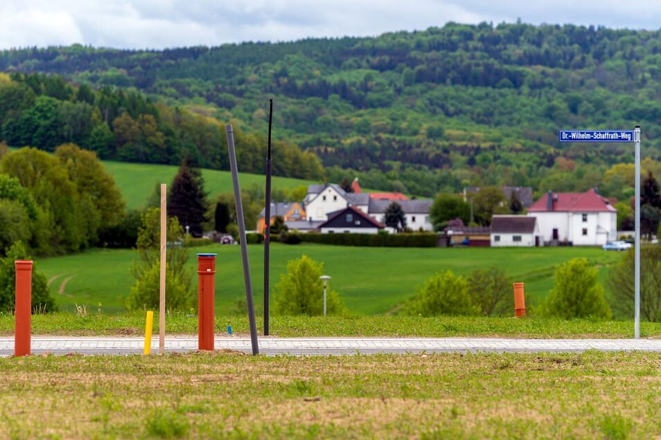 Ein Teil des neuen Wohngebietes an der Heinrich-Hertz-Straße in Neustadt ist erschlossen.