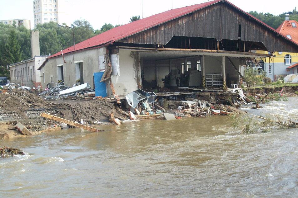 Auch im Nachbarort Hradek hat das Wasser Schäden angerichtet.