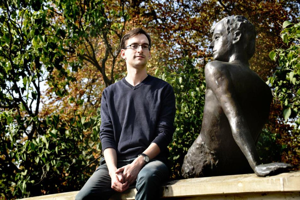 Simon Wolf vom Verein Kultur Aktiv engagiert sich mit mehreren tausend Akteuren der Freien Szene im Netzwerk Kultur Dresden für deren Fortbestand.