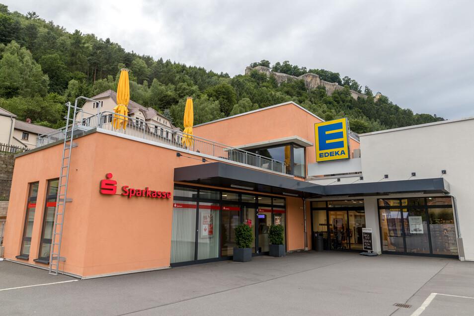 Der Edeka in Königstein. Sind Informationen über Mitarbeiter illegal nach draußen gelangt?